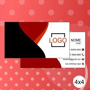 Cartão de Visita - 300g - 4x4 - Veniz Total Frente